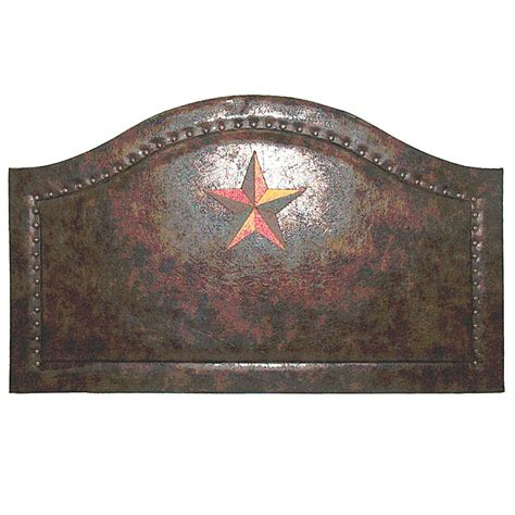 padded leather headboard laredo star embroidered antiqued faux leather padded headboard