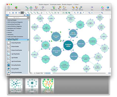create powerpoint presentation from a bubble diagram