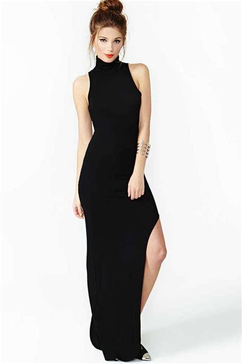 Dress Al Fashion Sabila Maxi martha high neck cut out back detail maxi dress at boohoo