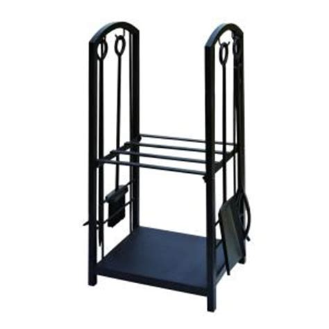 Home Depot Log Rack by 4 Fireplace Tool Set With Log Rack Stand Ft99b The Home Depot