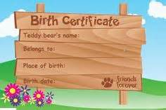 Teddy Birth Certificate Template by 1000 Images About Certificate On Birth