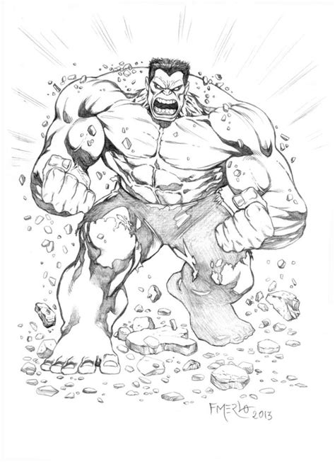 coloring pages of red hulk red hulk by fernandomerlo on deviantart