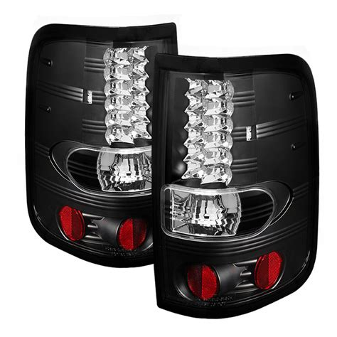 2008 f150 tail lights 2004 2008 f150 spyder led tail lights black sl5003249