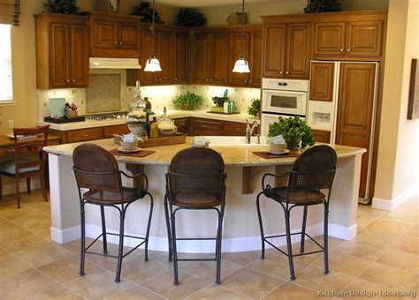 Curved Kitchen Island Designs | pictures of kitchens traditional medium wood cabinets