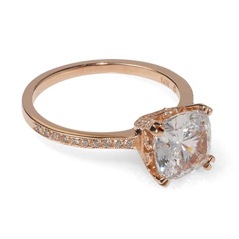 gold cushion cut engagement rings beautiful ring