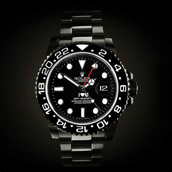 Rolex GMT Master II: I LOVE U   Titan Black