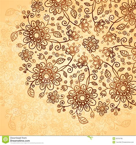 doodle flowers vector ornate vector doodle flowers background stock photo