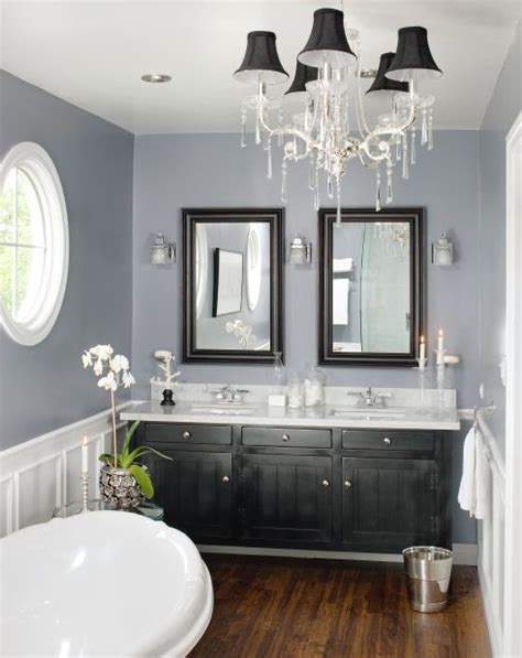 White Bathroom With Color Accents by The Gray And White With The Wood And Black