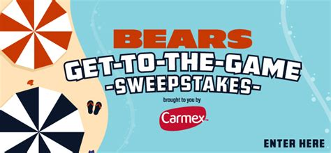 Chicago Bears Sweepstakes - chicago bears get to the game sweepstakes