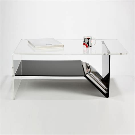 Acrylic Coffee Table With Shelf Perspex Acrylic Modern Coffee Table With Shelf Magazine