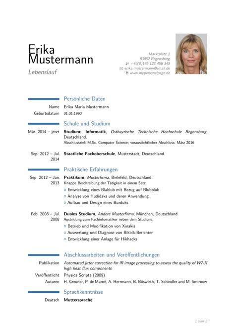 Moderner Lebenslauf Muster 2015 Moderne Vorlage F 252 R Einen Lebenslauf Mit Lyx Timos