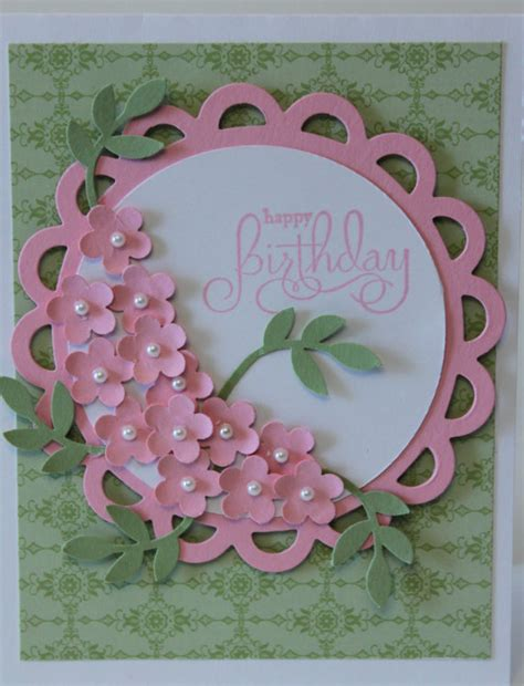 Handmade Cards With Flowers - happy birthday flower bouquet card stin up handmade