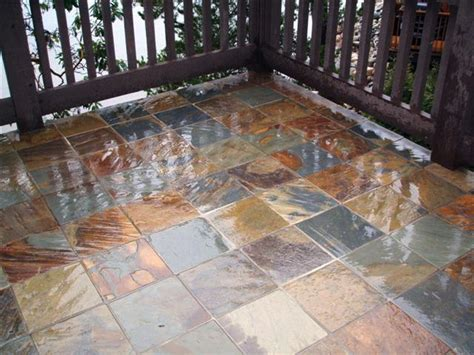 slate tiles for patio deck and patio construction cowichan valley vancouver island