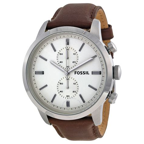 Fossil Chroco fossil townsman chronograph white brown leather s fs4865 townsman fossil