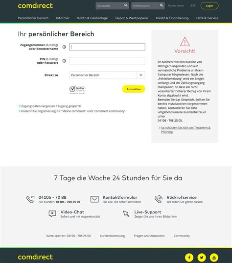 comdirect bank banking login comdirekt comdirect hotline