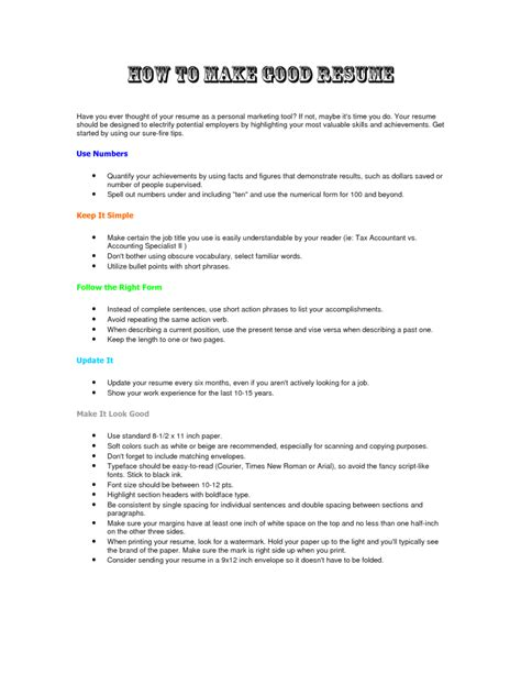 Resume Builder Without Paying How To Make A Resume Resume Cv