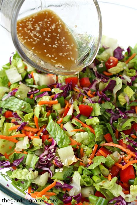 easy salad the garden grazer asian chopped salad with sesame vinaigrette