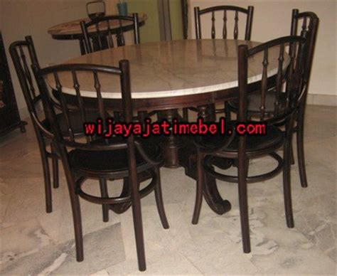 Meja Makan Marmer 6 Kursi kursi makan meja bulat marmer jati terbaru furniture