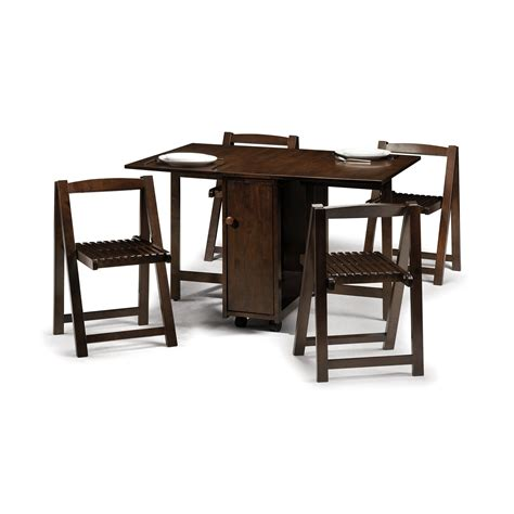 Drop Leaf Table And Folding Chairs Antique And Vintage Rectangular Drop Leaf Dining Table Painted With Brown Color With