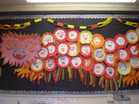 new year class decorations classroom display about china creative