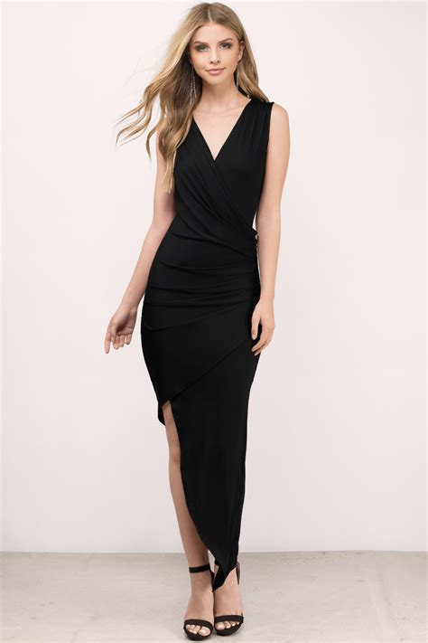 Dres Black black dress wrap dress black dress dress maxi