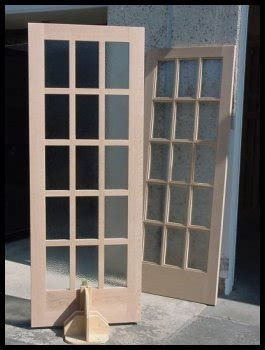15 panel glass exterior door of oak workshop authentic craftsman mission style