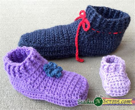 non pattern free pattern non stop slippers adult sizes stitches n