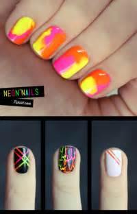 neon nail art pinpoint