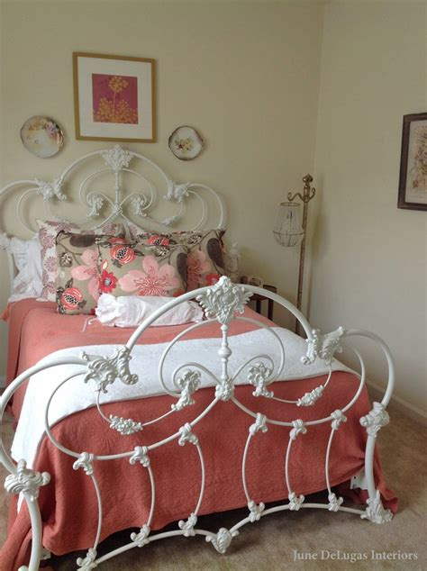 antique iron bed shabby chic bedroom for the home