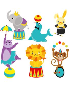 Decor Cirque A Imprimer by Stickers Animaux Color Stickers