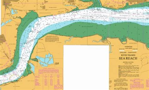 thames river navigation map river thames canvey island to tilbury a canvey island to