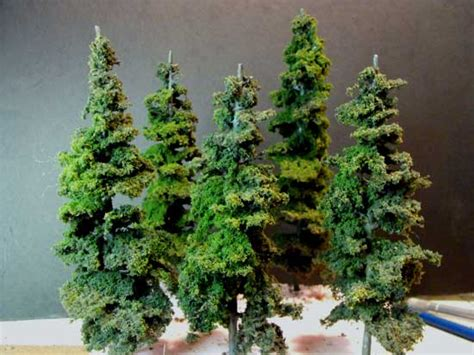 How To Make A Pine Tree Out Of Paper - make model trees scenery supplies