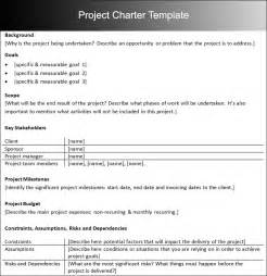 project charter template pdf project charter templates word and pdf