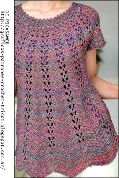blusa crochet zigzag paso paso las 25 mejores ideas sobre t 250 nica de ganchillo en