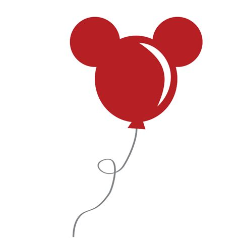 Mickey Balloon Outline by Mickey Mouse Balloon Clipart 18