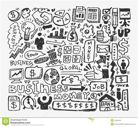 business doodle vector free doodle business element stock photos image 31280433
