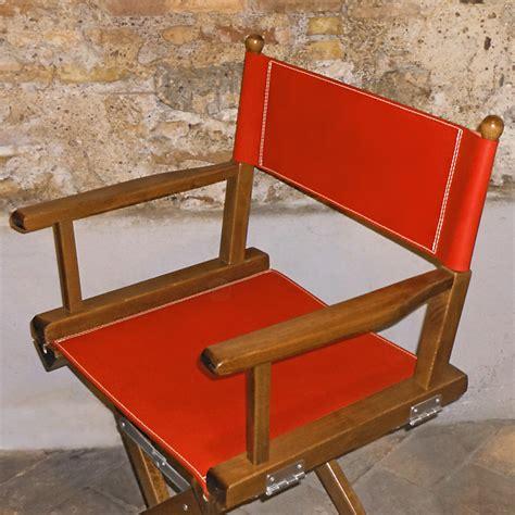 sedie da regista in legno sedia da regista in cuoio naturale e legno dettaglio