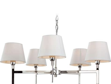 5 arm pendant ceiling light chrome chandelier with cream shades