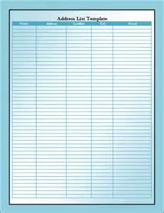 address list template address list template microsoft office templates
