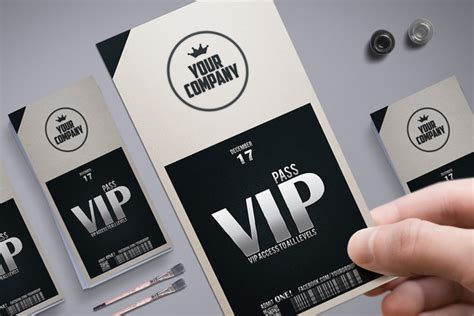Stylish Simple Vip Pass Card Templates On Creative Market Vip Pass Template