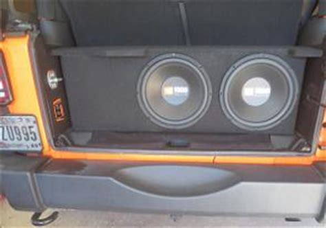 Jeep Wrangler Sub Box 2007 2016 Jeep Wrangler 2 Door Subwoofer Box