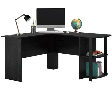 Desk Corner Shelf Livivo L Shape White Office Computer Desk With Book Shelves Wooden Corner Table Ebay