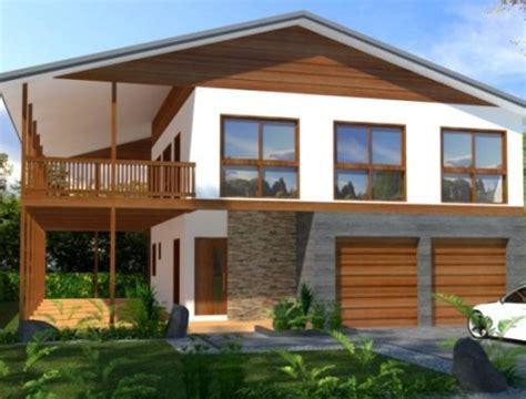 membuat rumah tingkat dari kayu rumah minimalis sederhana 2 lantai dengan balkon kayu