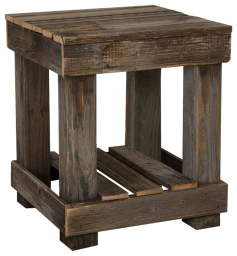 barnwood end table farmhouse side tables and end