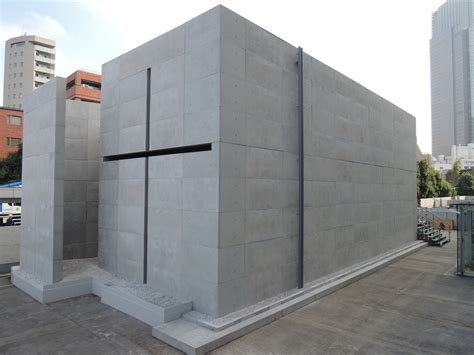 light of church tadao ando creates scale mock up of church of the