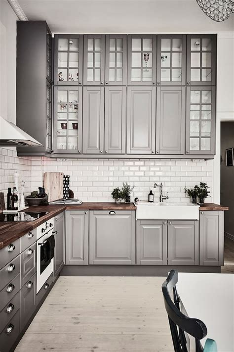 kitchen design ideas an ikea kitchen with fewer wall cabinets best 25 kitchens ideas on pinterest kitchen cabinets