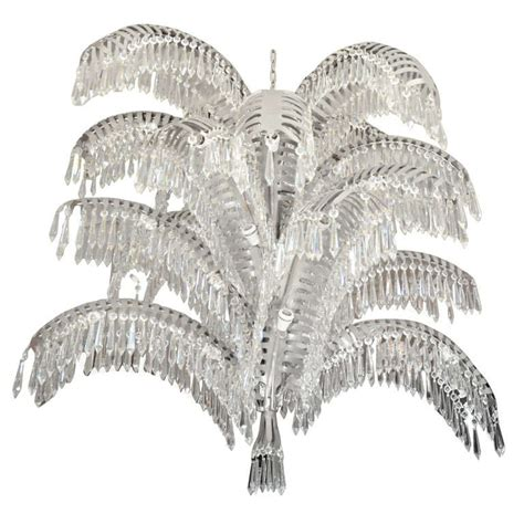 Palm Tree Chandelier Stainless Steel And Cut Palm Tree Chandelier At 1stdibs