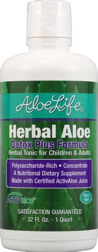 Aloe Rid Detox Shoo by Aloe Herbal Aloe Detox Plus Formula 32 Fl Oz Shop