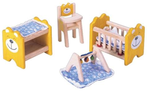 pintoy dolls house furniture pintoy wooden dolls house furniture nursery doll review compare prices buy online