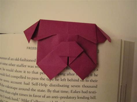 Origami Bookmark - bulldog bookmark flotsam and origami jetsam